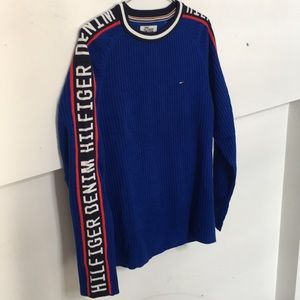 Tommy Hilfiger - Blue Sweater w/ Logo Sleeves NWT